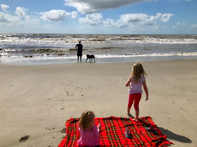 Travel and tourism reporter Leigh Guidry and family visit Holly Beach during their road trip along the Creole Nature Trail American Road.