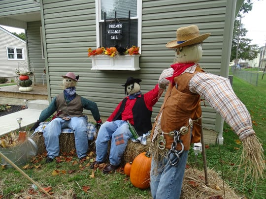 The Bremen Area Chamber of Commerce organized a scarecrow contest for businesses, groups and residents that will be up until November. Sixteen scarecrow entries were judged on Friday, Oct. 12, 2018, with winners announced at the Pumpkin Walk on Saturday.