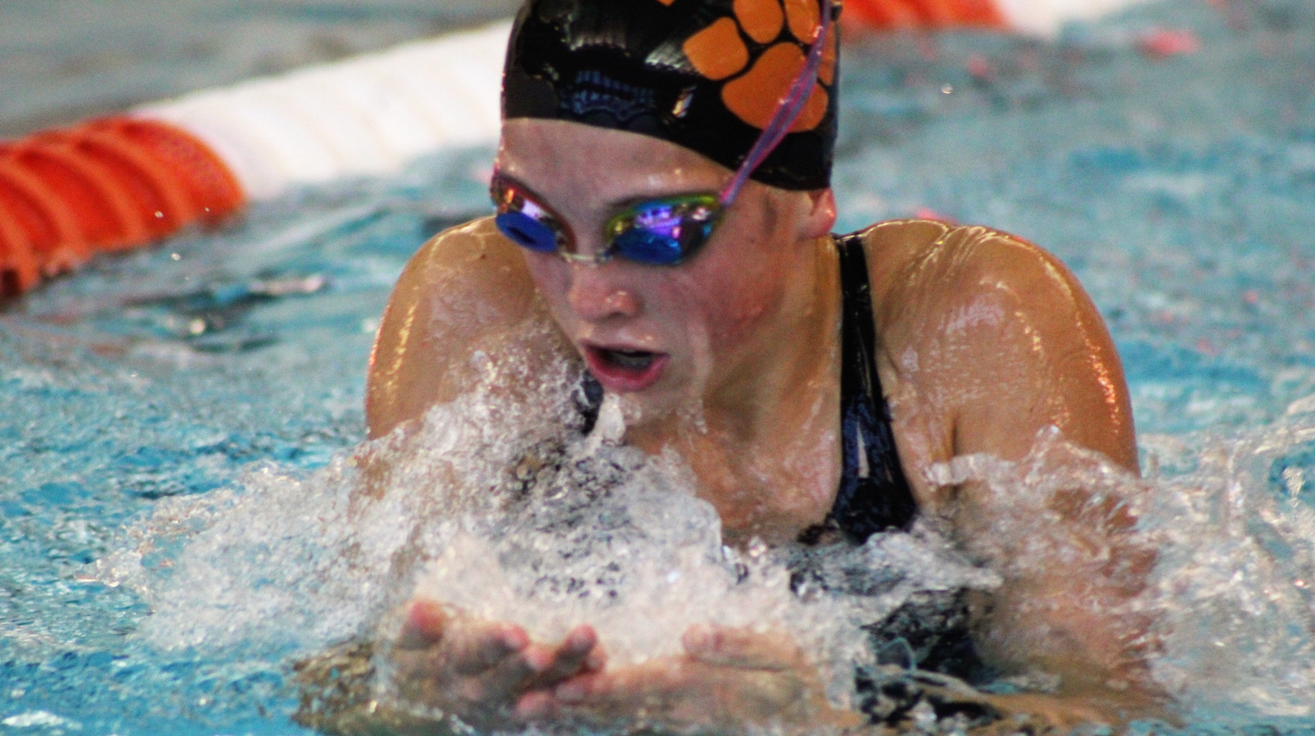 Brighton freshman Jordyn Libler was third in the 200 individual medley at the MISCA swimming and diving meet.
