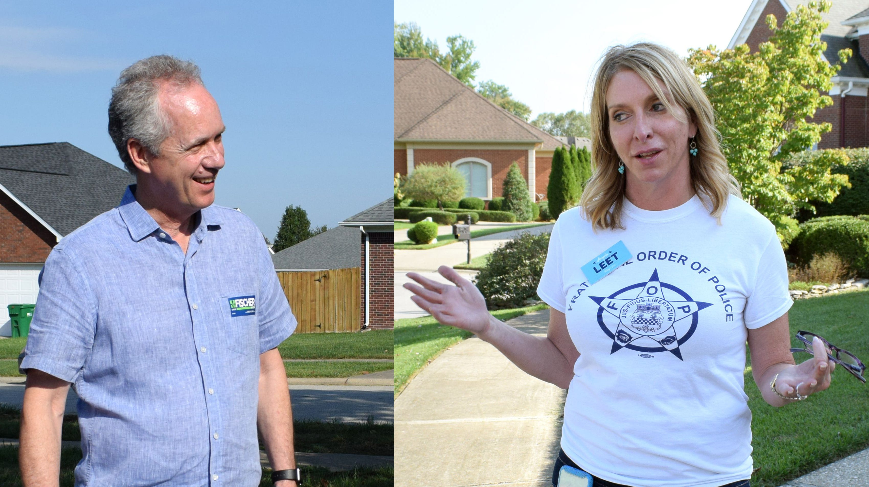 Louisville mayor's race: Fischer and Leet offer contrasts in style, strategy