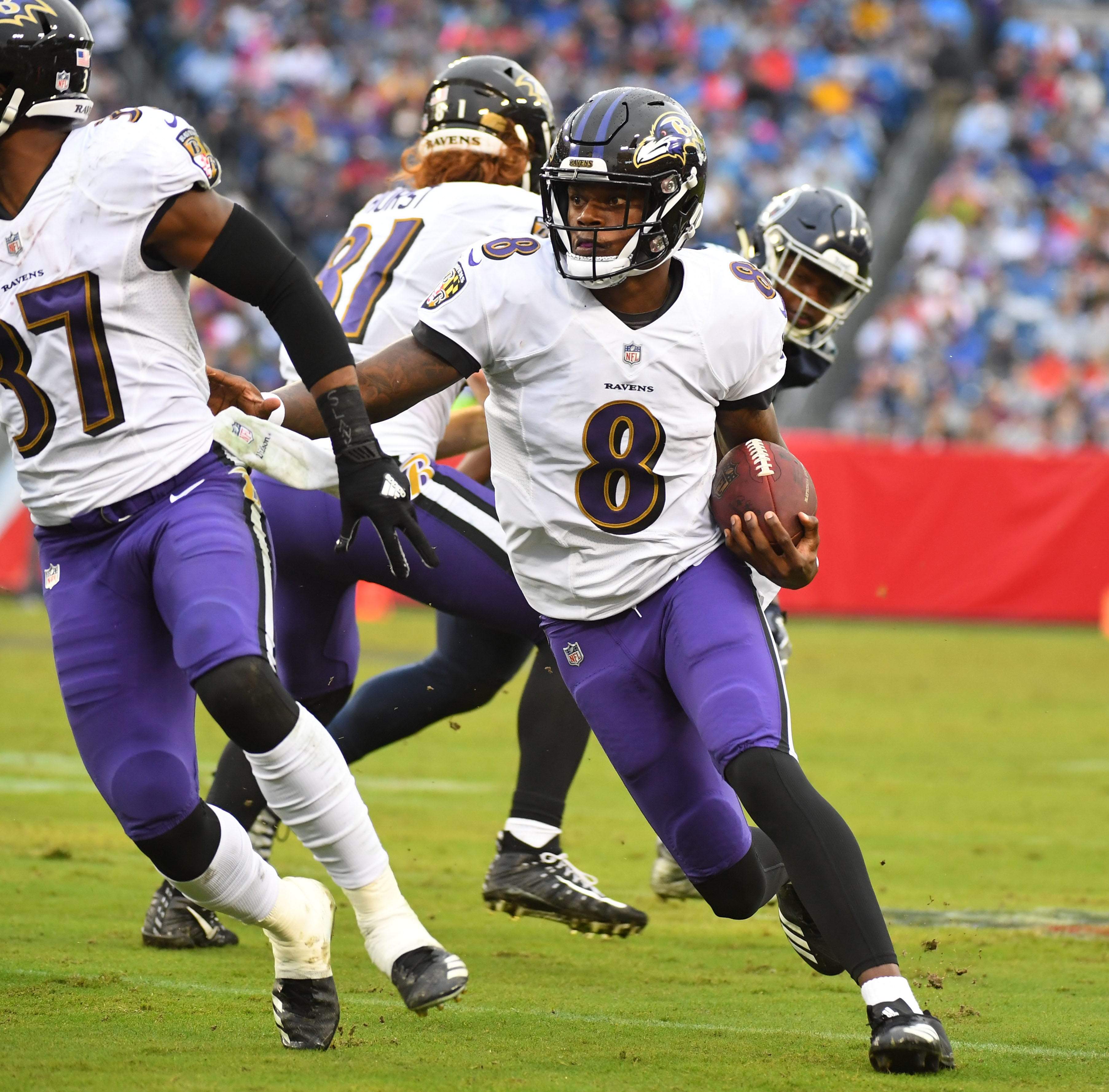 Watch: Lamar Jackson scores first NFL touchdown for Baltimore Ravens