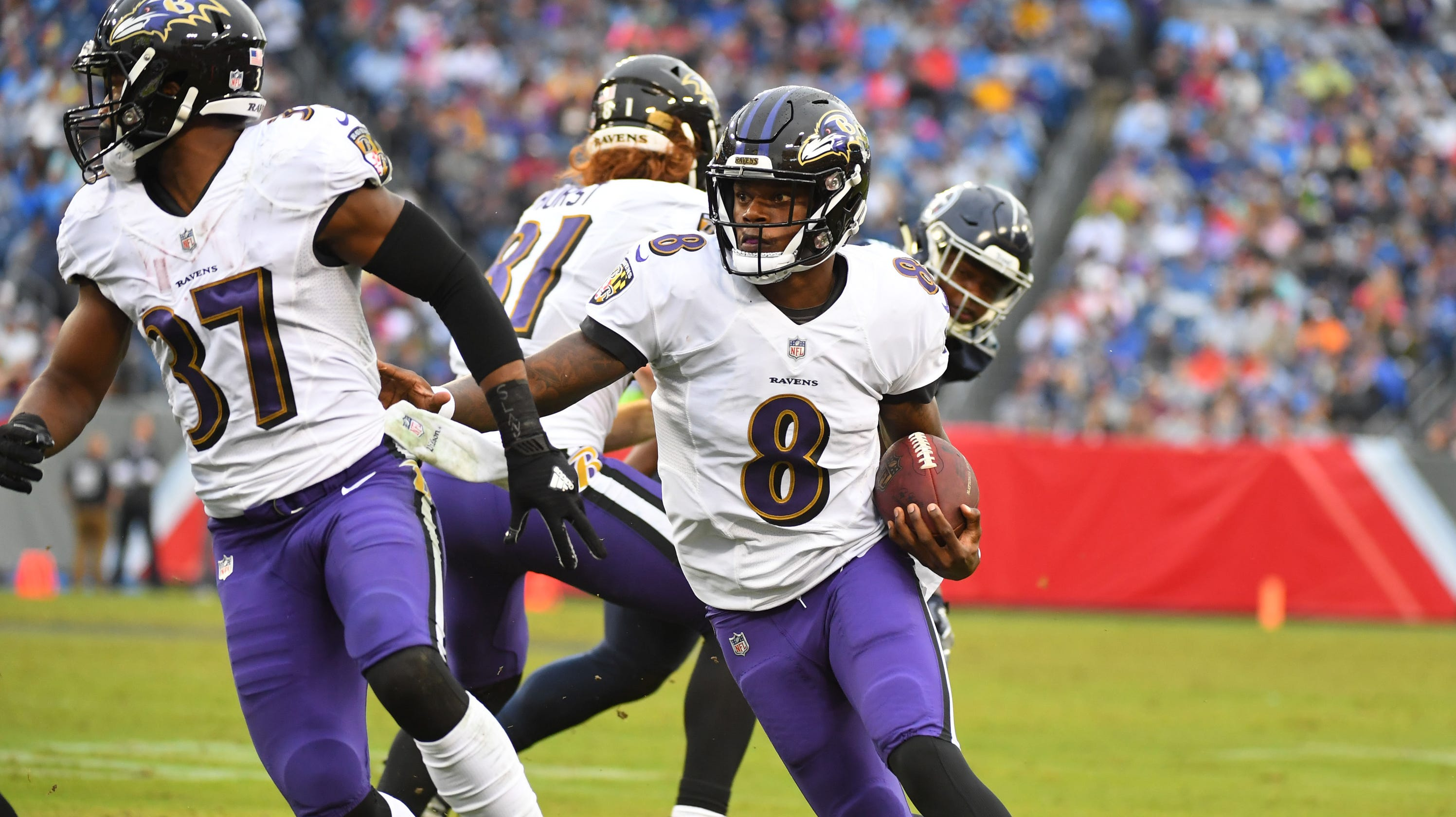6fdd7dba Lamar Jackson scores rushing touchdown for Baltimore Ravens