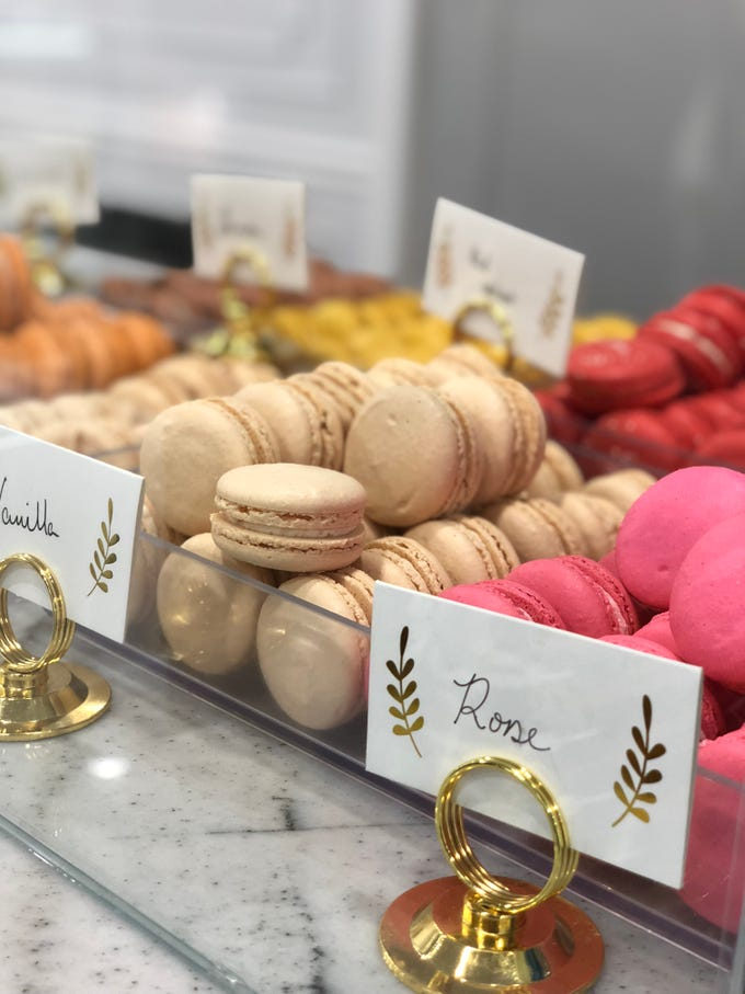17 Berkshire in Overton Square specializes in French macarons. The bakery's selection of macaron flavors changes daily.