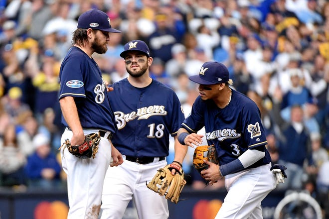Wade Miley held the Dodgers to two hits and no walks with three strikeouts over 5 2/3 innings in Game 1 of the NLCS.