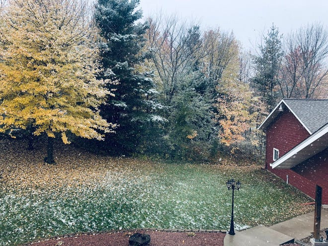 The northwest portion of Wisconsin recorded measurable snowfall on Sunday.