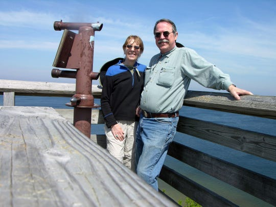 Susan and Nathan James of Racine enjoy time at Peninsula State Park in Wisconsin in the summer of 2012. This photo was among those in a camera they lost later that year. It was found by another Wisconsin couple in the wilderness of Montana this summer.