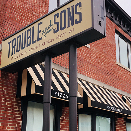 Trouble and Sons Pizzeria opening Tuesday in Whitefish Bay