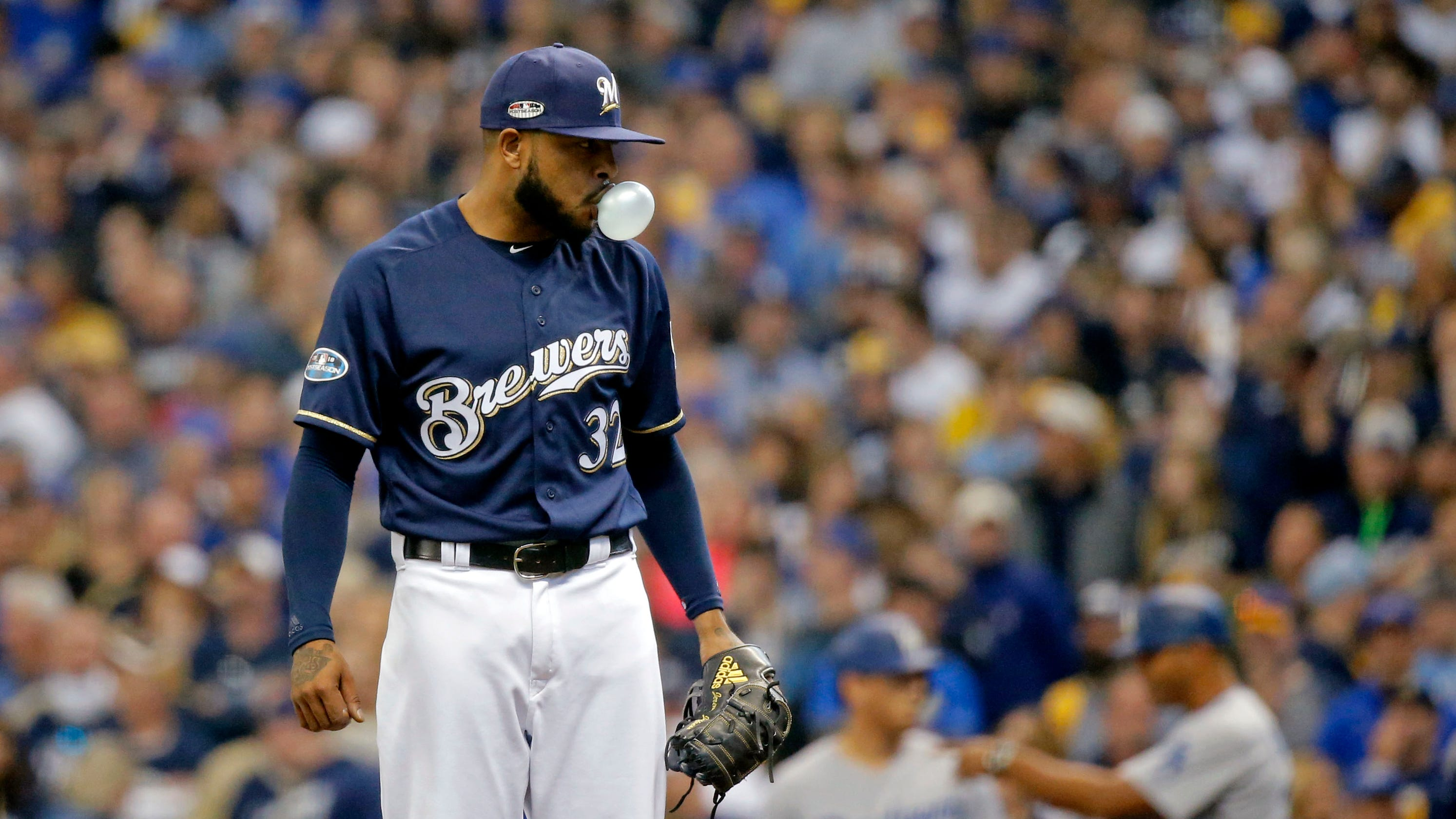 946152826aa MLB playoffs  Brewers  Jeremy Jeffress clarifies  lucky  comments