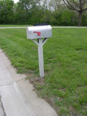 This photo was in a camera lost by its owner, Nathan James, in 2012. It's a mailbox he made when he was pastor of Ottawa Bible Church in Kansas. The address on the box  helped the finders of the camera find its owners.
