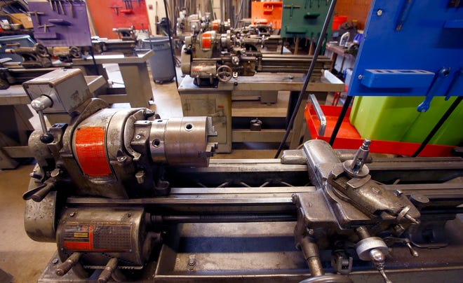 Cedarburg High School's metals shop contains functional but outdated equipment in need of replacement to digital technologies, such as CNC machines. Expansion, renovation and upgrading of the school's technology areas are part of the Cedarburg School District's $59.8 million referendum that will be on the Nov. 6 ballot.