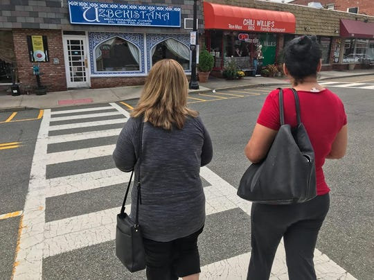Crossing at Main Street where a pedestrian safety campaign will be held later in October.