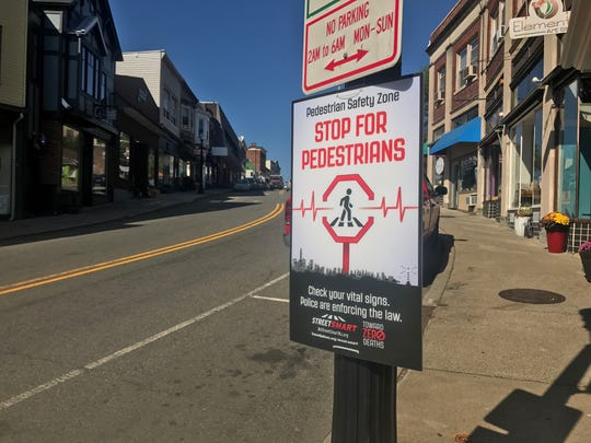 Main Street where a pedestrian safety campaign will be held later in October.