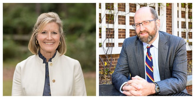 Tracie West and Adam Jortner are running for the District 2 BOE seat.