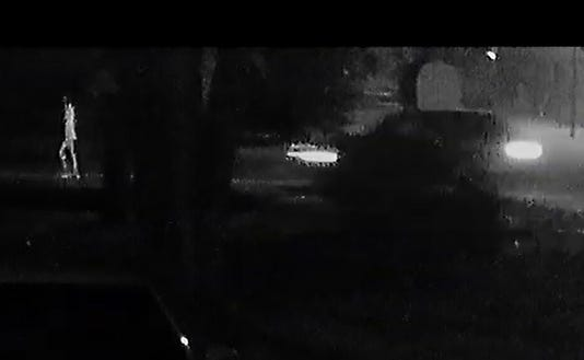 A screen grab from the video that shows the Oct. 5 hit and run.