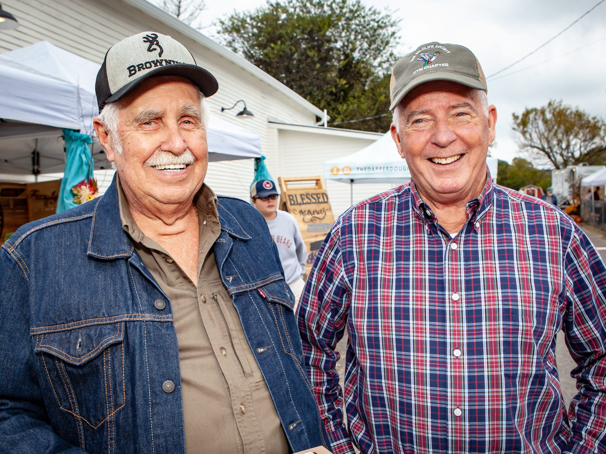 Larry McDonald and Ron Dowdy at The Gathering at Milton's fall market and craft fair on Saturday, Oct. 13, 2018.