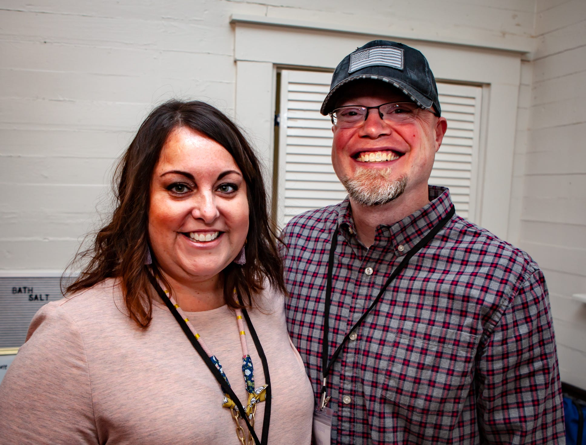 Daniel and Erin Jones at The Gathering at Milton's fall market and craft fair on Saturday, Oct. 13, 2018.