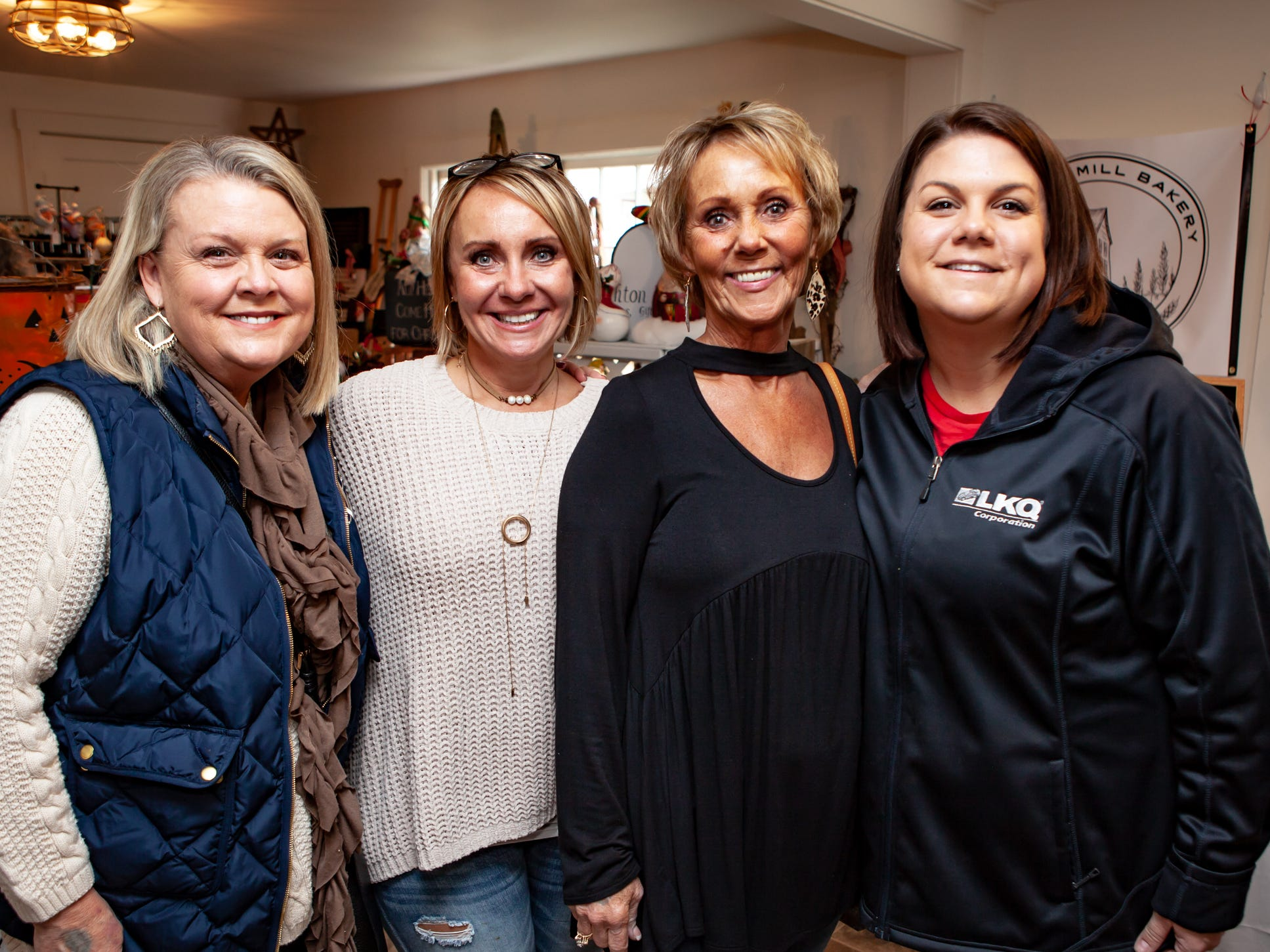 Paula Laaser, Tammy Dement, Betty Hunter and Lindsey Sims at The Gathering at Milton's fall market and craft fair on Saturday, Oct. 13, 2018.