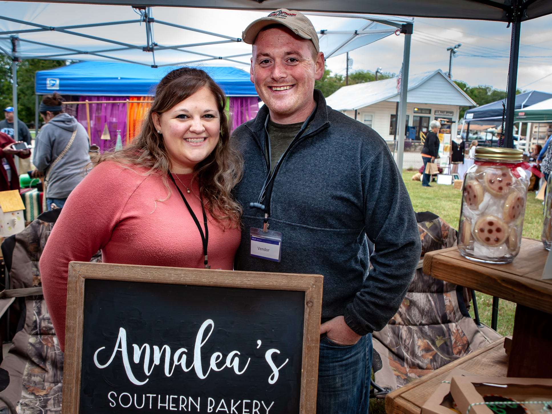 Reilly and Josh Welborn at The Gathering at Milton's fall market and craft fair on Saturday, Oct. 13, 2018.