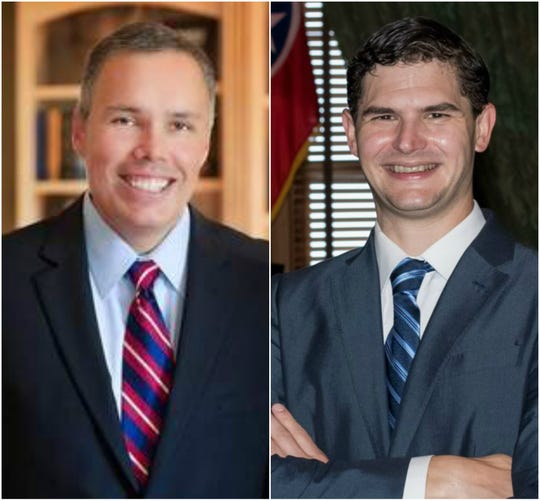 Republican Bryan Terry, left, faces a challenge from Democrat Matt Ferry for his seat in the Tennessee House of Representatives.