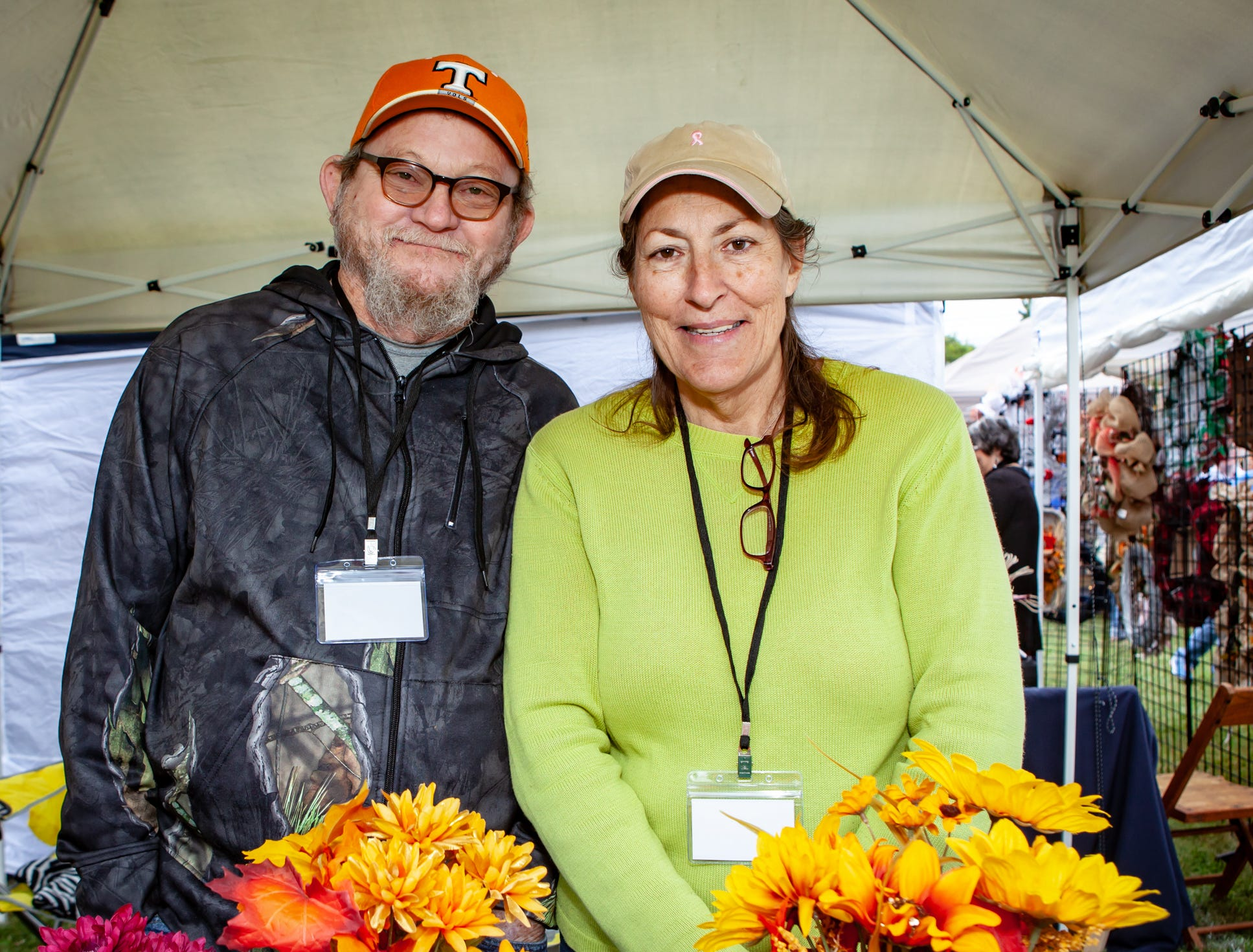David and Cathy Tucker at The Gathering at Milton's fall market and craft fair on Saturday, Oct. 13, 2018.