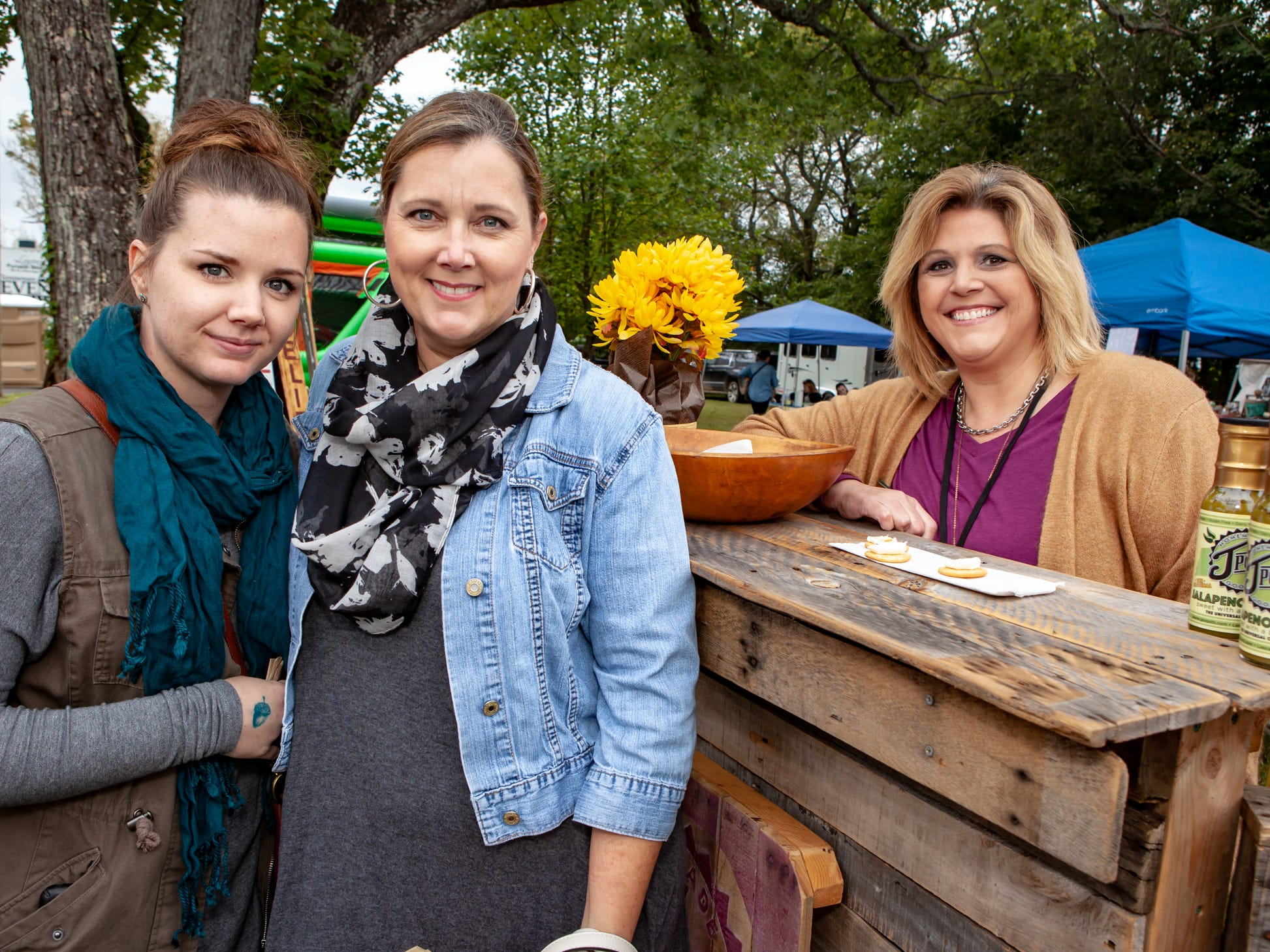 Kylie and Angie Forte and Jan Stewart at The Gathering at Milton's fall market and craft fair on Saturday, Oct. 13, 2018.