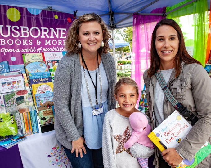 Chelsea Hilton, Hunter Jenkins and  Emily Jenkins at The Gathering at Milton's fall market and craft fair on Saturday, Oct. 13, 2018.
