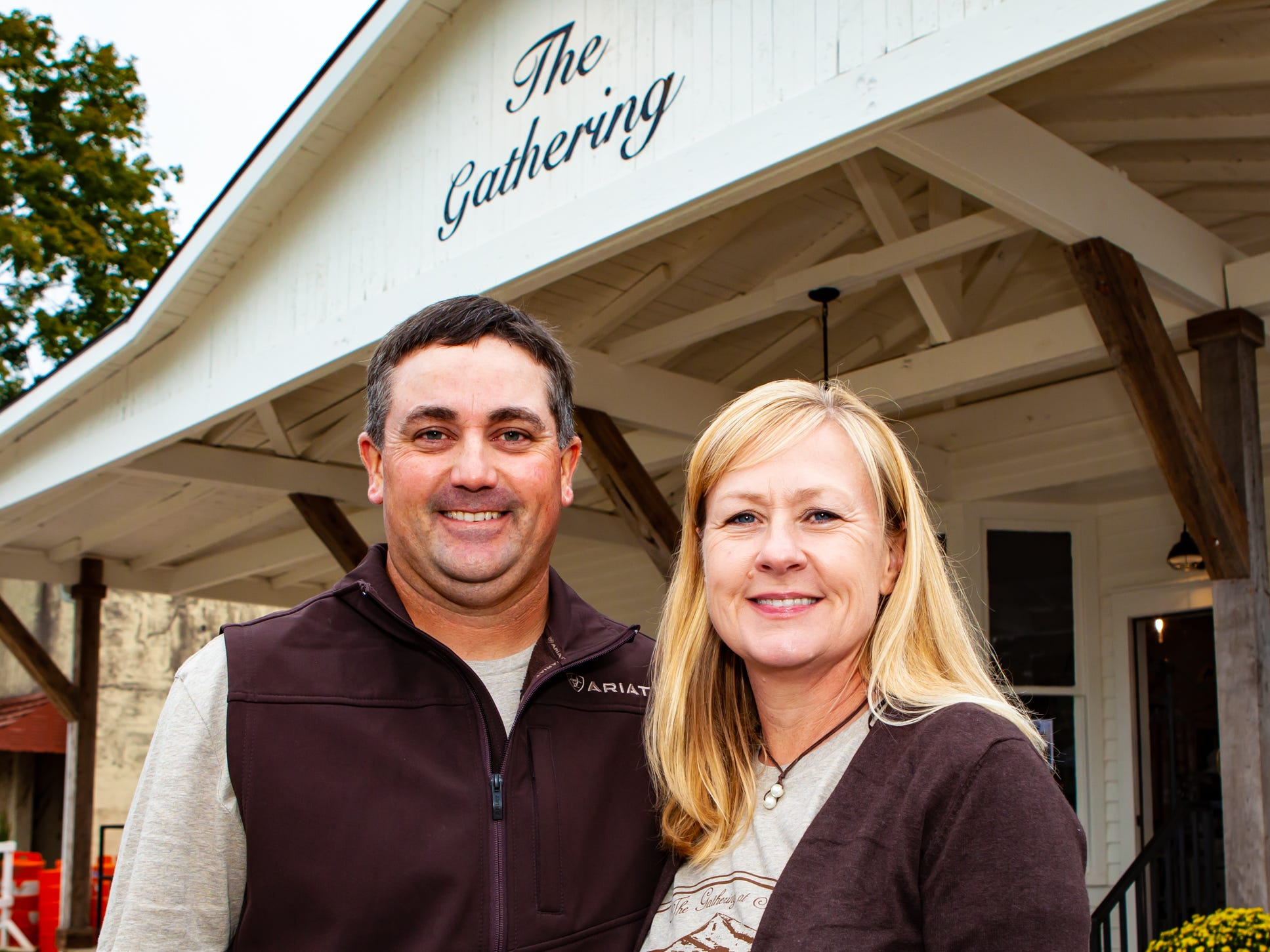Phillip and Alanna Vaught, owners of The Gathering at Milton, which held its fall market and craft fair on Saturday, Oct. 13, 2018.