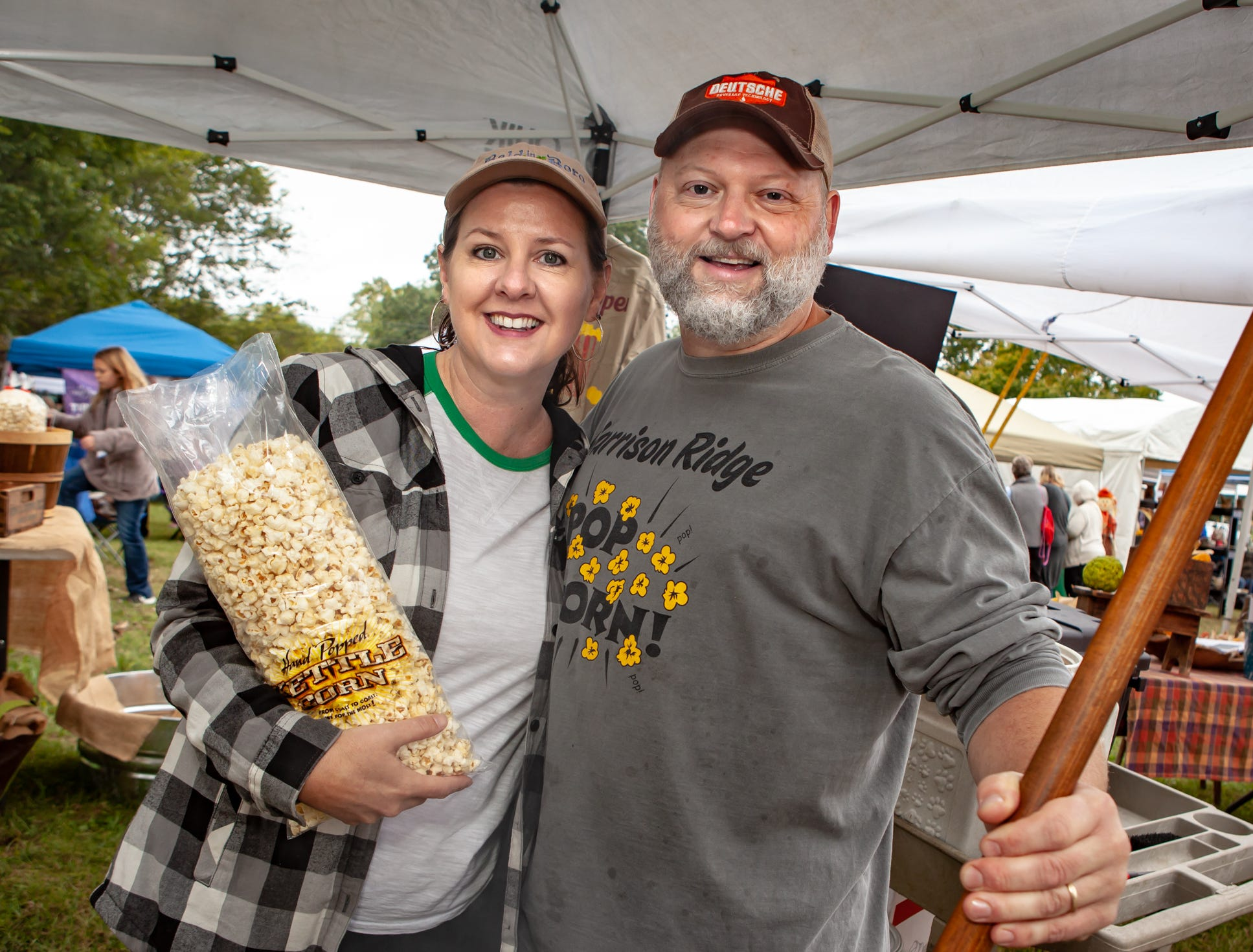 Dawn and Dr. Jeremy Harrison at The Gathering at Milton's fall market and craft fair on Saturday, Oct. 13, 2018.