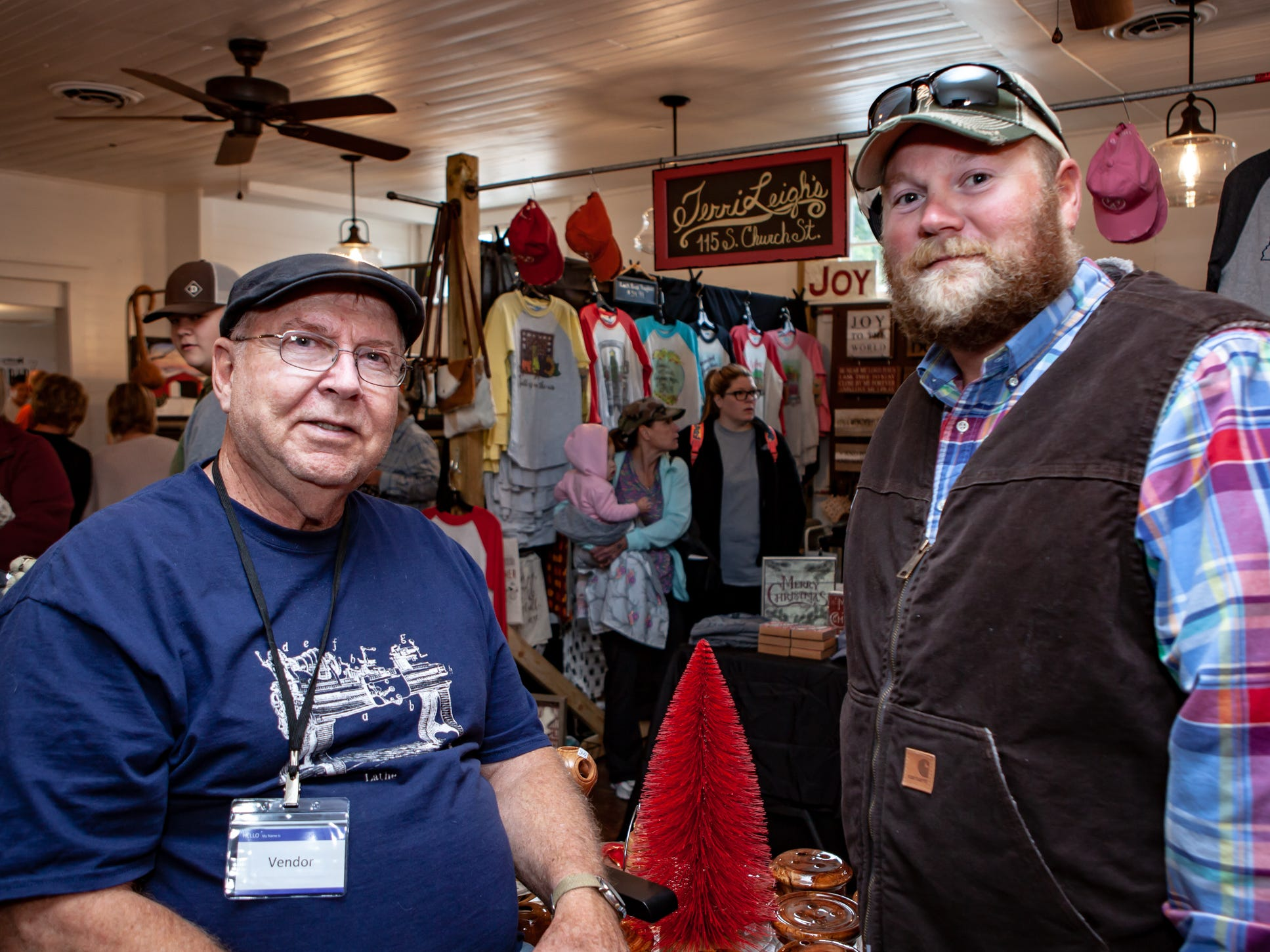 Ken Gunnell and Casey Jones at The Gathering at Milton's fall market and craft fair on Saturday, Oct. 13, 2018.
