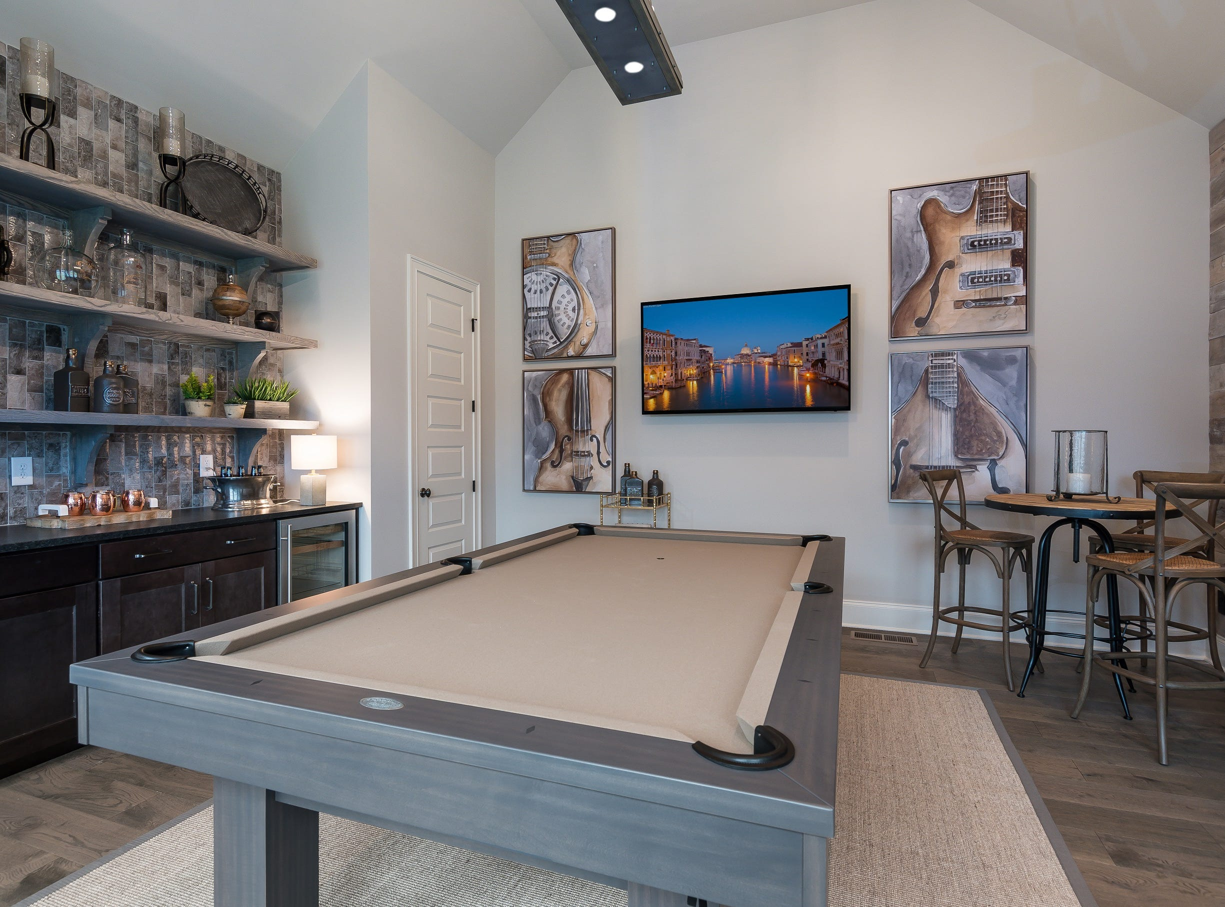 Another feature in this model home is a game room on the main floor.