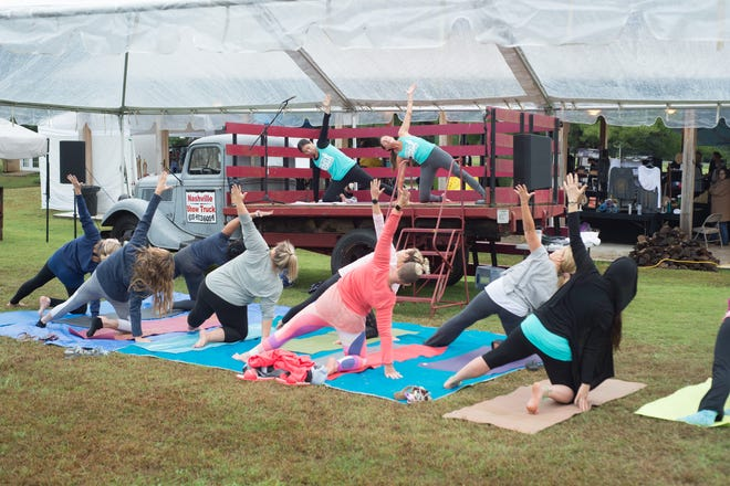 The Tennessee Yoga Festival was held on the grounds of Historic Rock Castle in Hendersonville on Sunday, Oct. 14.