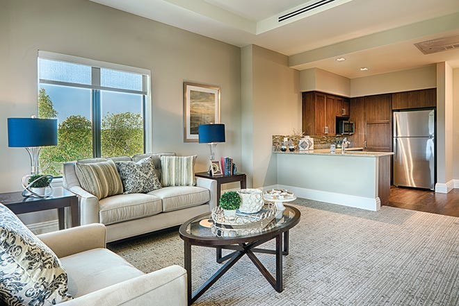 Assisted living (shown) and memory care residences are available in Oakstone, located within Moorings Park at Grey Oaks.