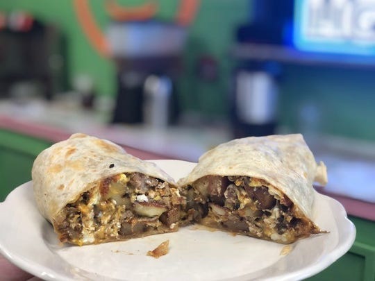 The breakfast burrito at FK Your Diet in Fort Myers.