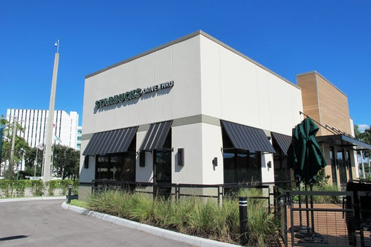Starbucks is set to open a new freestanding drive-thru location Friday, Oct. 19, across from the Collier County Government Center, left, at Airport-Pulling Road and U.S. 41 in East Naples.