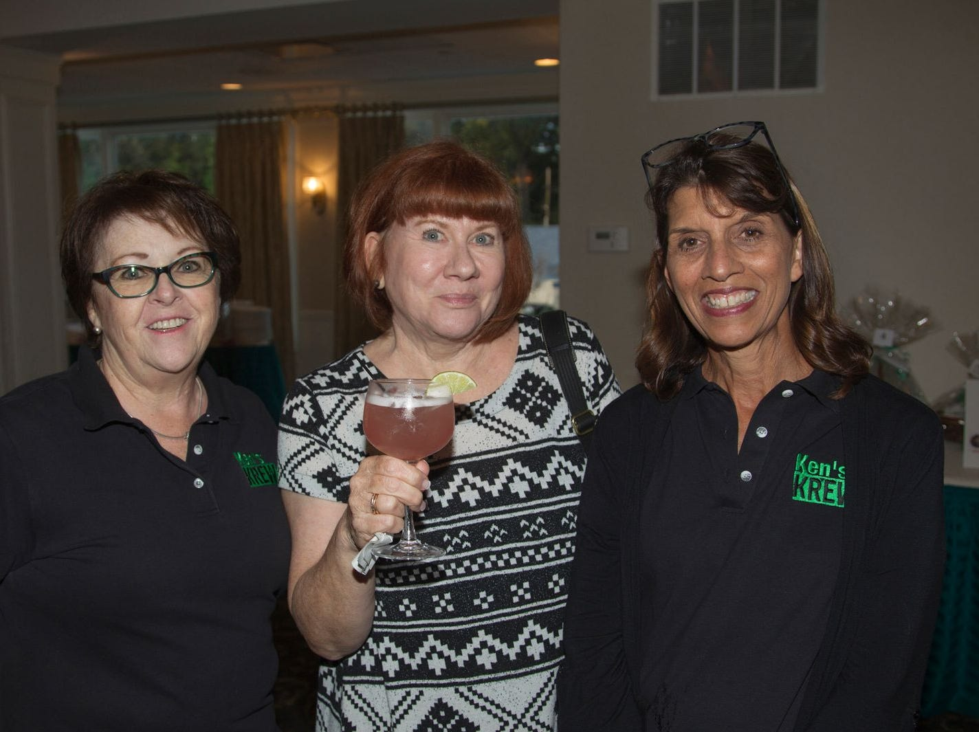 Karan Lapera, Joanne Ivie, Diane Macaluso. Ken's Krew Golf Outing at White Beeches Country Club in Haworth. Ken's Krew provides vocational training and job placement services for young adults with intellectual and developmental disabilities. 10/09/2018