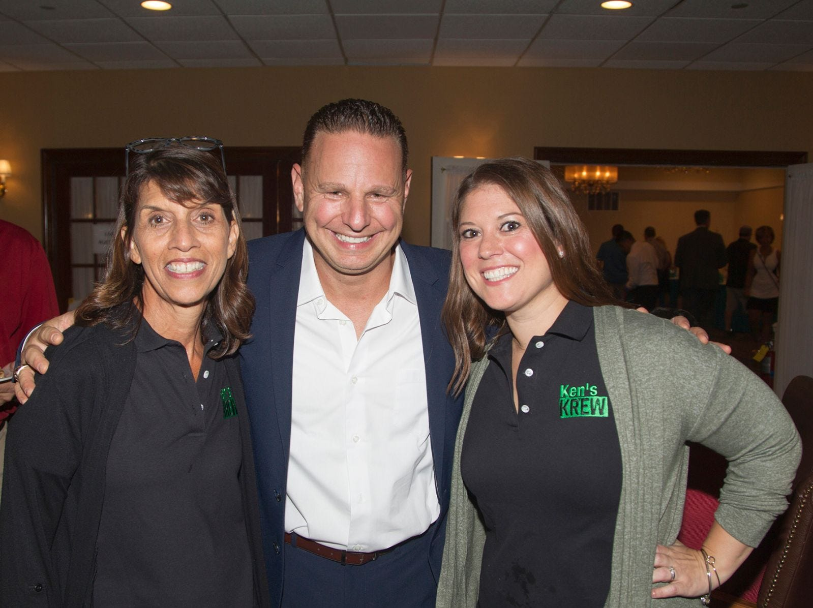 Diane Macaluso, Mark Esposito, Jailynn Worster. Ken's Krew Golf Outing at White Beeches Country Club in Haworth. Ken's Krew provides vocational training and job placement services for young adults with intellectual and developmental disabilities. 10/09/2018