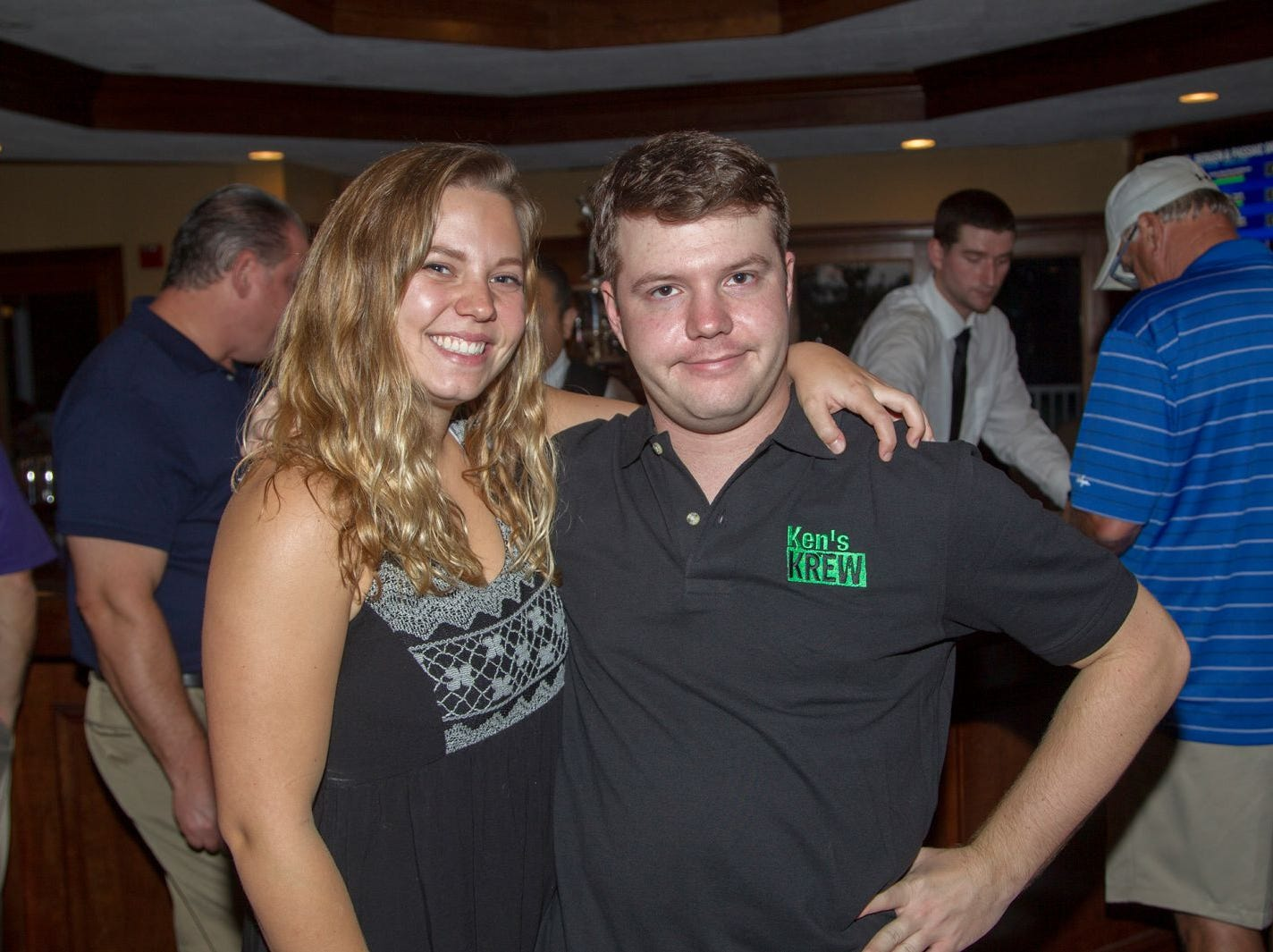 Emily and Daniel Adams. Ken's Krew Golf Outing at White Beeches Country Club in Haworth. Ken's Krew provides vocational training and job placement services for young adults with intellectual and developmental disabilities. 10/09/2018
