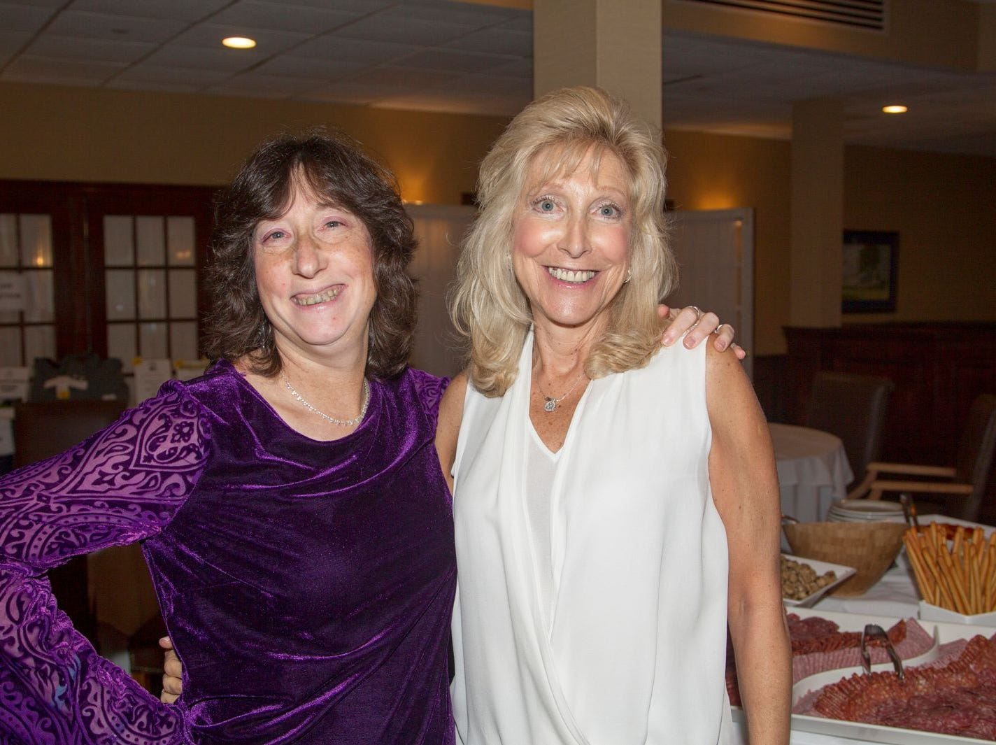 Jeanne Buesser, Ronni Rantzer. Ken's Krew Golf Outing at White Beeches Country Club in Haworth. Ken's Krew provides vocational training and job placement services for young adults with intellectual and developmental disabilities. 10/09/2018