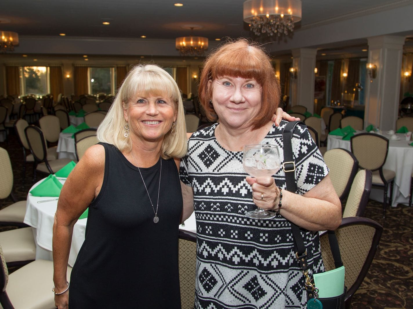 Diane Lento and Joanne Ivie. Ken's Krew Golf Outing at White Beeches Country Club in Haworth. Ken's Krew provides vocational training and job placement services for young adults with intellectual and developmental disabilities. 10/09/2018