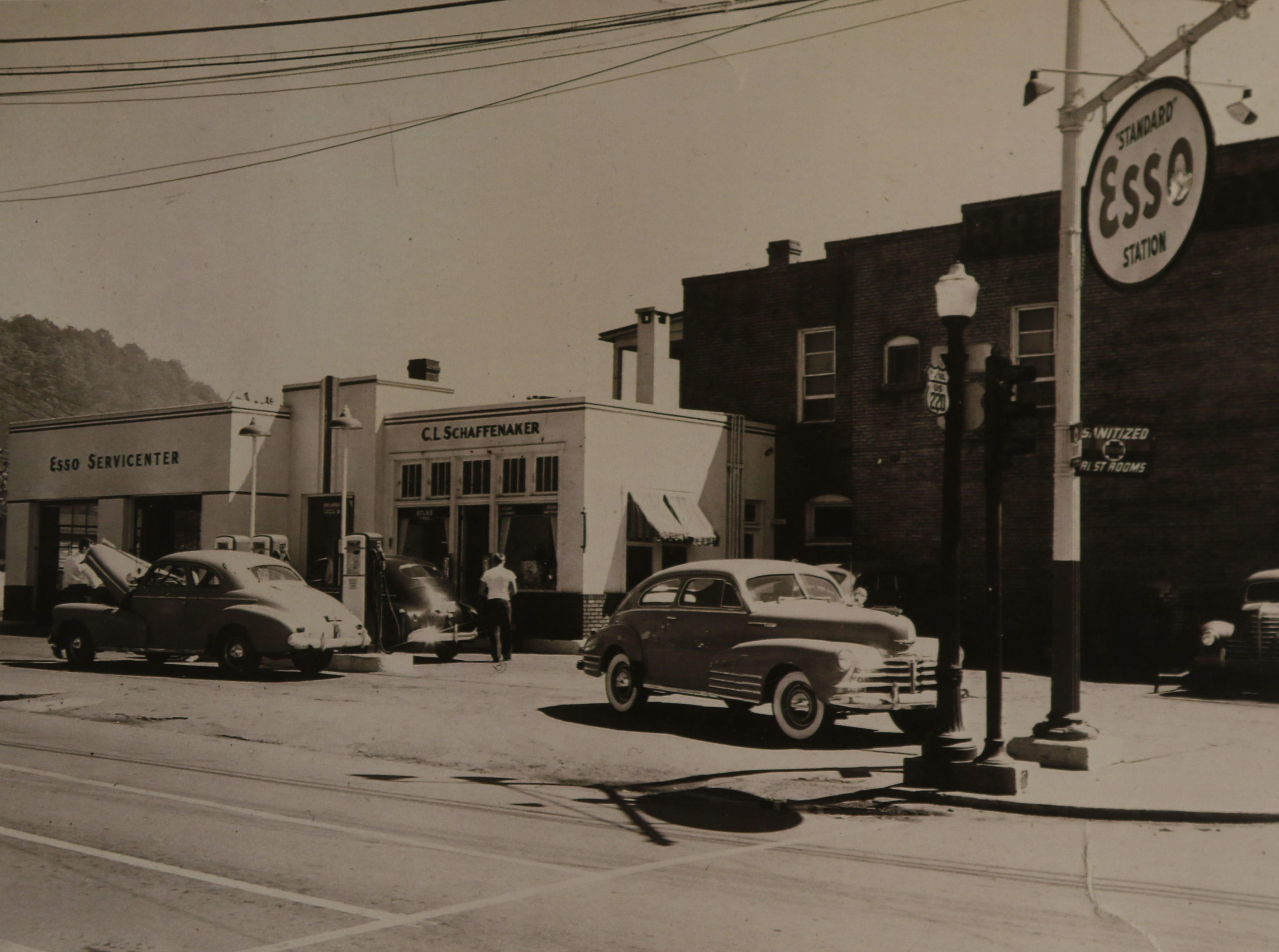 Here is a photo taken in the 1950s of the establishment that real estate developer Terry Stephens is trying to open. It is a new downtown business in Keyser that would include a coffee shop, a brew pub restaurant, and a place to rent bicycles and kayaks since there is close access to the Potomac River.