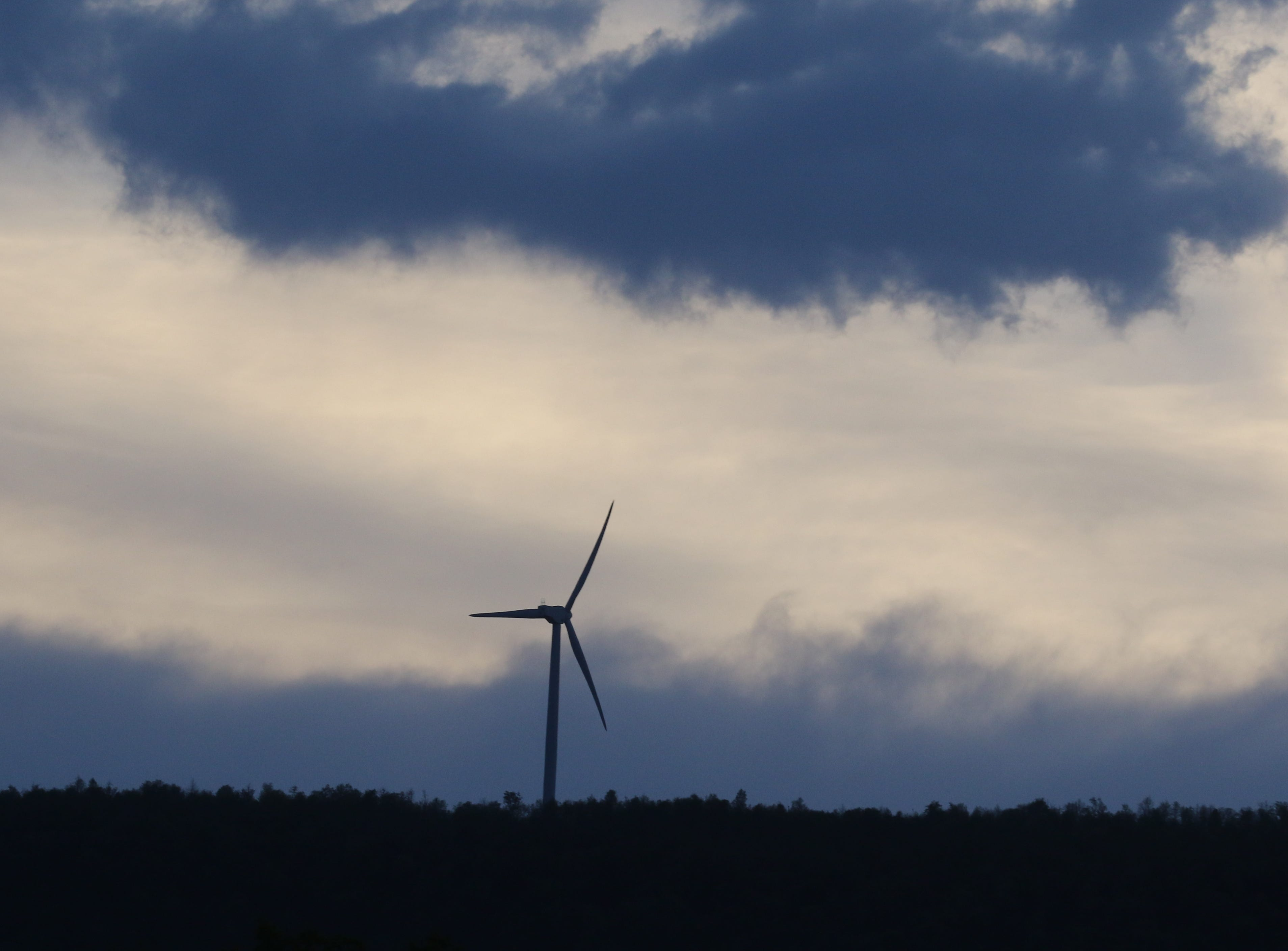 Once Keyser was in the heart of coal country, and today 23 windmills are on a ridge overlooking the town.