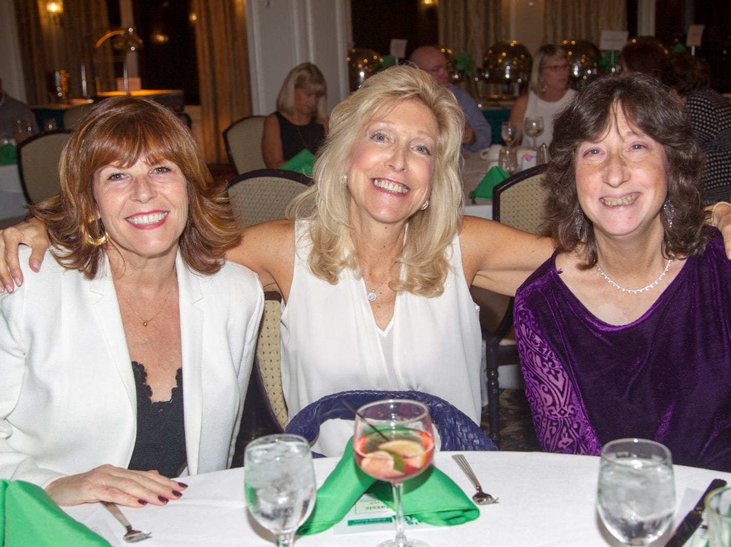 Elizabeth Clifford, Jeanne Buesser, Roni Rantzer. Ken's Krew Golf Outing at White Beeches Country Club in Haworth. Ken's Krew provides vocational training and job placement services for young adults with intellectual and developmental disabilities. 10/09/2018