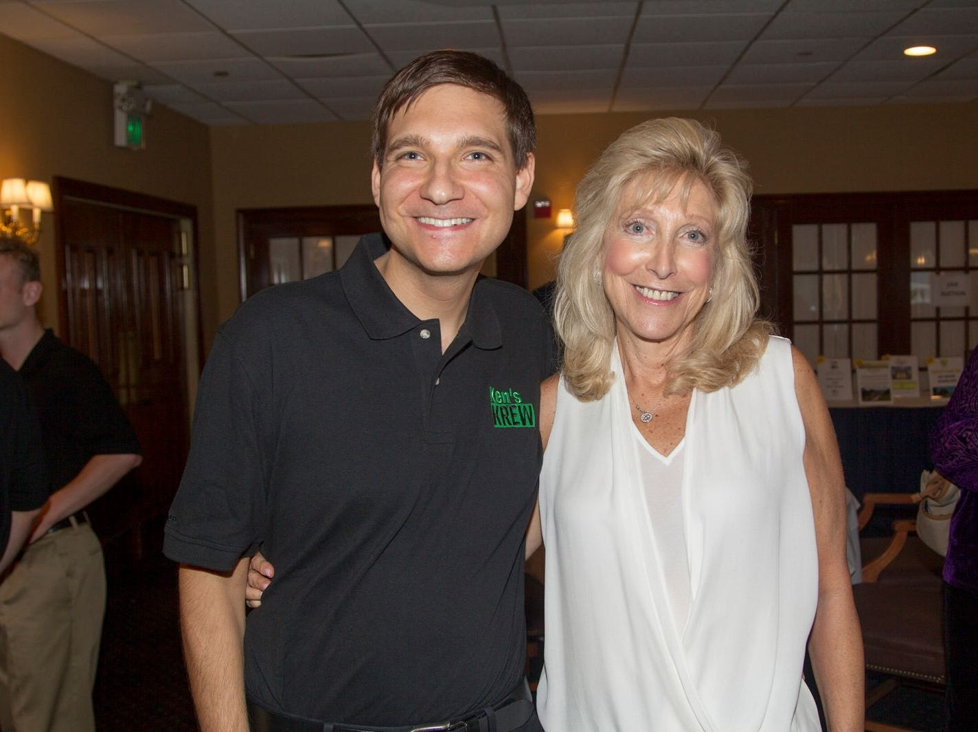 Evan and Ronni Rantzer. Ken's Krew Golf Outing at White Beeches Country Club in Haworth. Ken's Krew provides vocational training and job placement services for young adults with intellectual and developmental disabilities. 10/09/2018