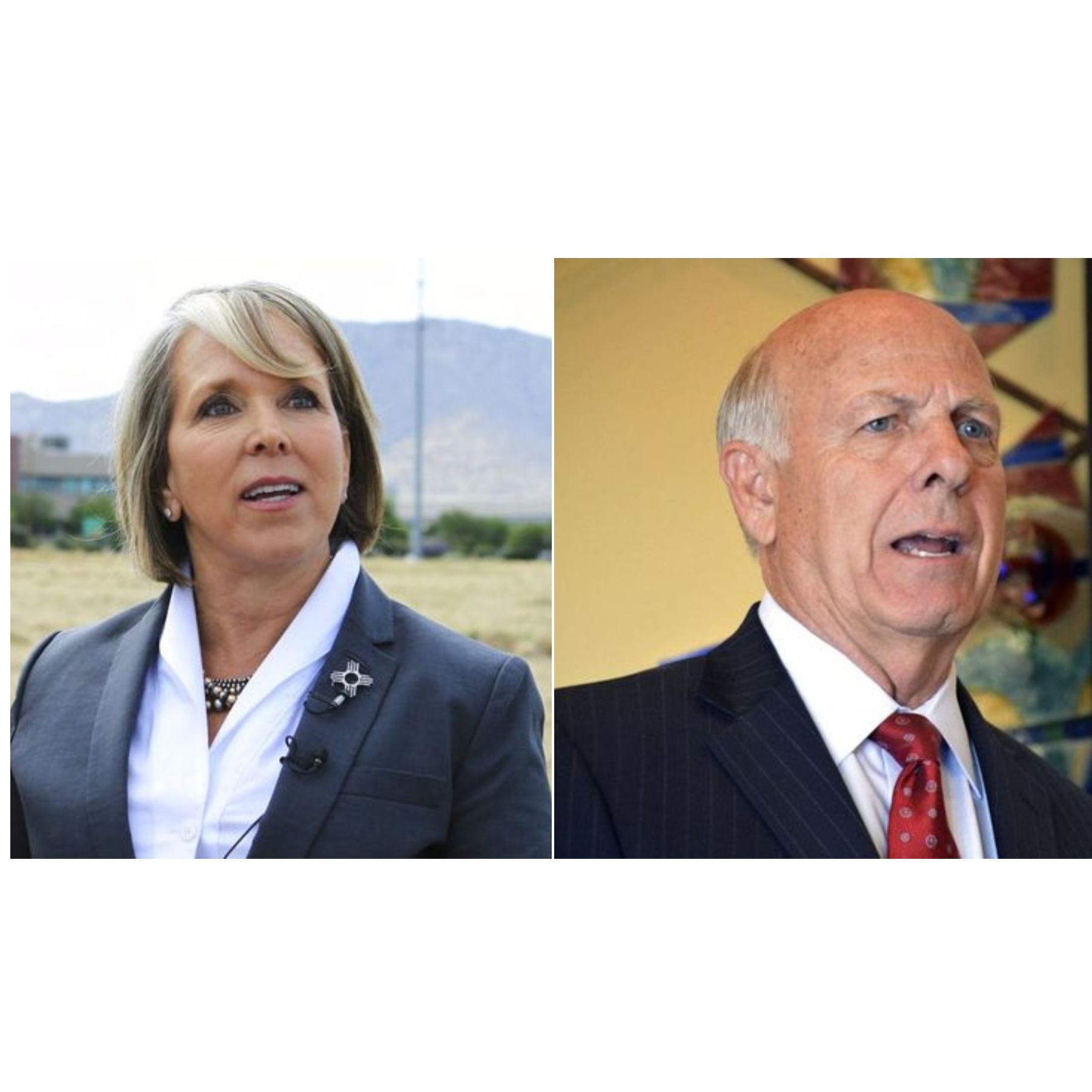 Michelle Lujan Grisham and Steve Pearce clash during debate