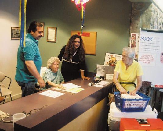 Alamogo Senior Center front desk