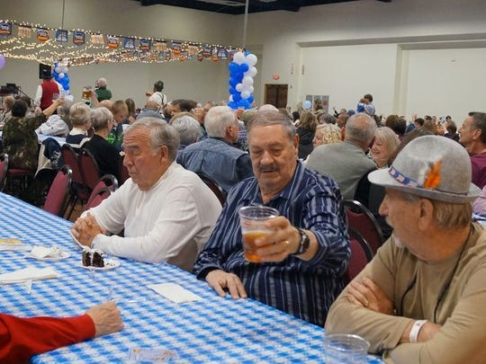 Patrons at the Oktoberfest celebrate all that is German.