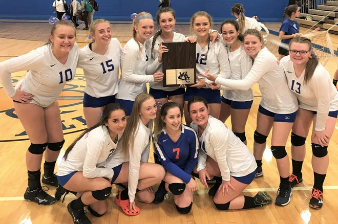 The Garden City girls volleyball team claimed at least a share of the WWAC title with a win Oct. 11 at home over Romulus.