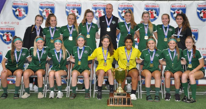 The Michigan Jaguars U18 Green captured the Michigan State Youth Soccer Association Cup in Pontiac.