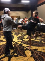 Courtney LaBuy, 21, has a 3-1 record in MMA fighting. She hopes to get her fourth win Oct. 27 in Oshkosh.