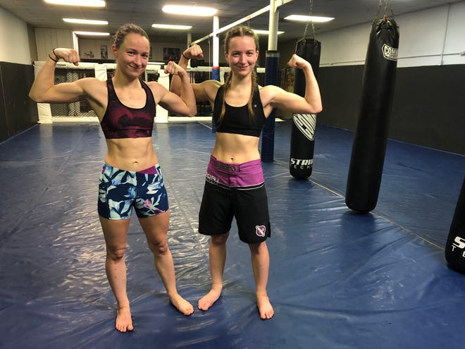 Charity, left, and Courtney LaBuy have been training at Unified Martial Arts in Fond du Lac since March of 2016.